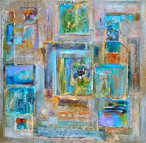Passages, 36 x 36, mixed media, $2200