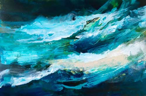 Ocean Inspiration #11, 24x36, Mixed media, $1200‏