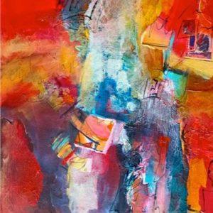 Joyful Balance, 30 x 24, Mixed media, $1100