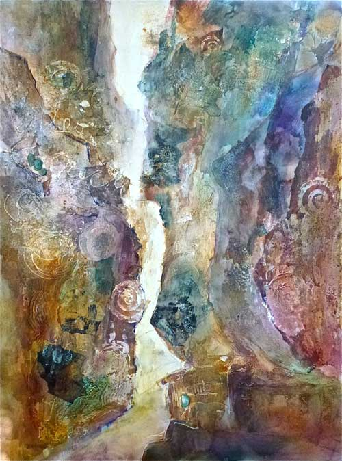Sacred Site, Sacred Symbols, 40 x 30, Mixed Media, $2100