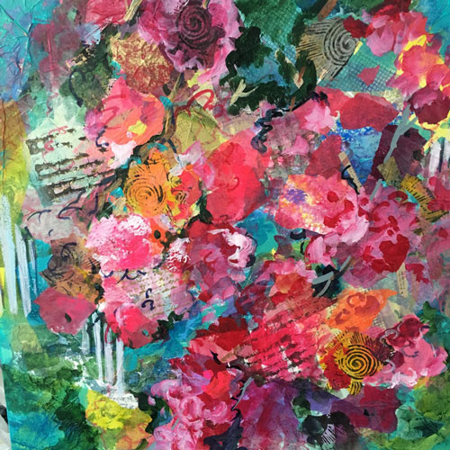 Spring energy, 20x20, mixed media, $600