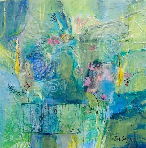 Spring Abstraction #2, 12 x 12, Mixed Media, $200, board