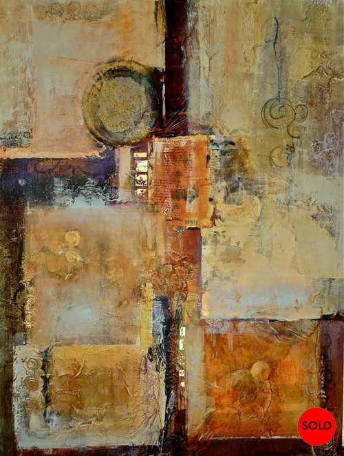 Interconnections 6, 36 x 48 , Mixed Media, SOLD