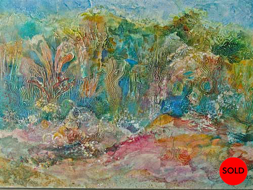 Coral Reef Enchantment, 40 x 30, Mixed media, SOLD