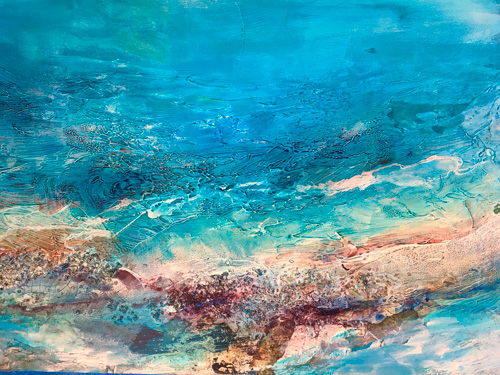 Ocean Glory Textures #1, 30x36, Mixed Media, $2100