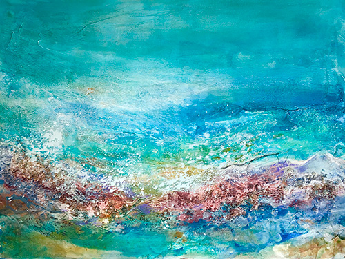 Ocean Glory Textures #3, 30x36, Mixed Media, $2100