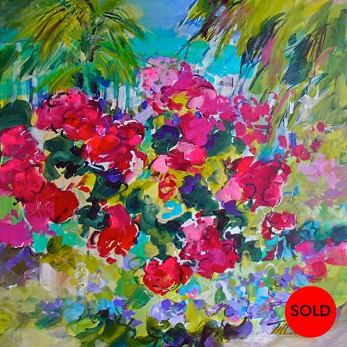 Caribbean Joy, 18 x 18, Acrylic, $550