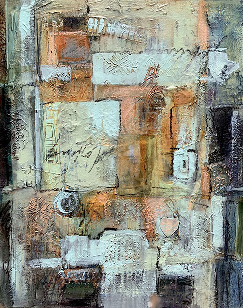 Apart, but Connected #2, 24x30, Mixed Media, $750