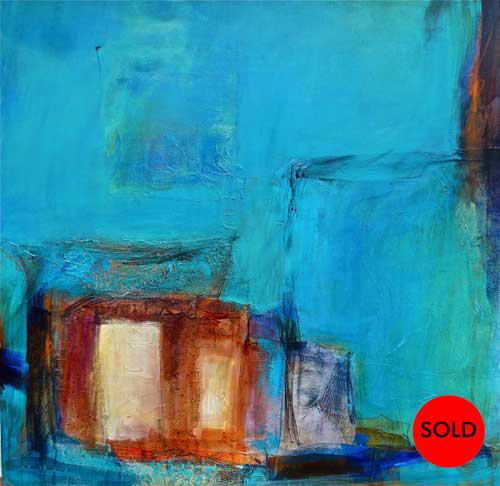 SOLD Sacred Spaces 14, 36 x 36, Mixed Media, $2900