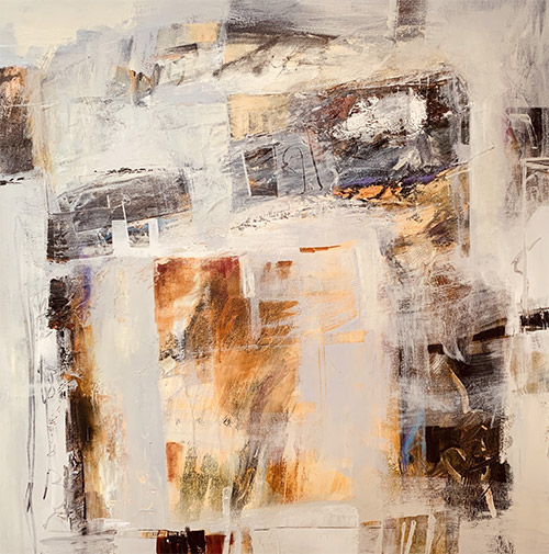 Sacred Spaces #4, 36x36, Mixed Media, $1800