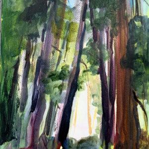 "Into the Light (study) 12"" x 9"", Acrylic. $150"