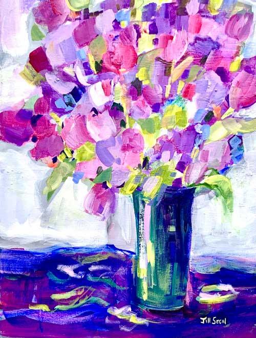 Joyful-Blooms,-24'-x-18',-Acrylic,-700