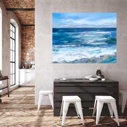 "Ocean Muse, Mixed Media, 36"" x48"", $2100"