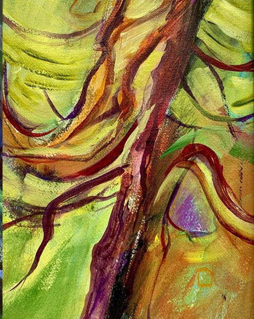 "Forest Dance, 12"" x 9"", Acrylic, $150"