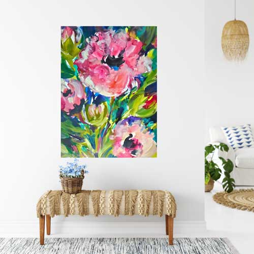 Pink Poppy Passion, 30 x 22, Acrylic