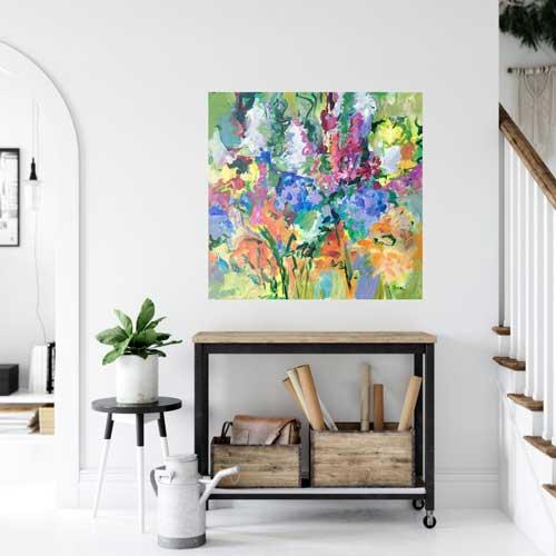 Summer Garden Rapture 24x24, $750